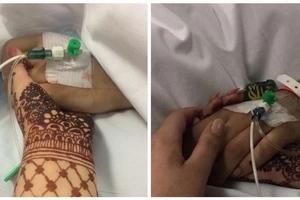 Conmovedora imagen de hermana sosteniendo la mano de su hermano agonizante al quitarle respirador artificial tras choque de autos