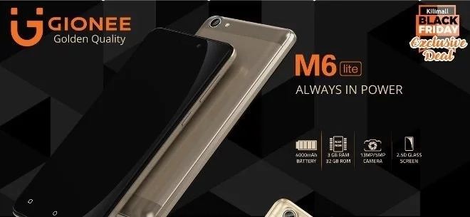 Kilimall rocks Black Friday with launch of Gionee M6 Lite Smartphone