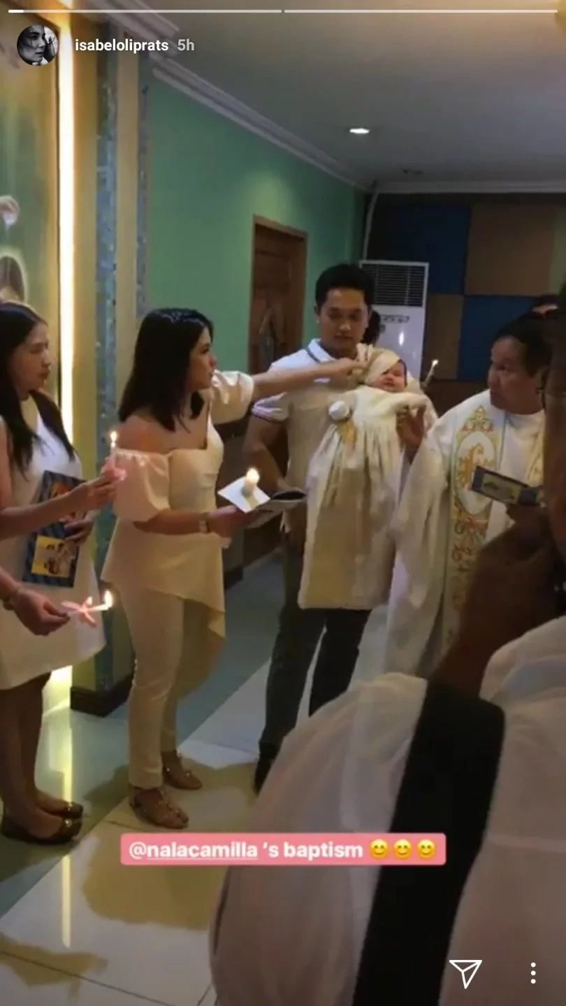 Super cute baby girl of Camille Prats and John Yambao gets baptized in Catholic Church