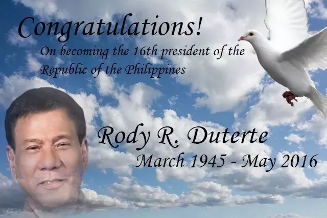 An open letter to Rodrigo Duterte: Congrats Mayor!