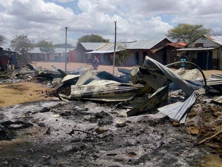 Al-Shabaab militants also stole police landcruiser