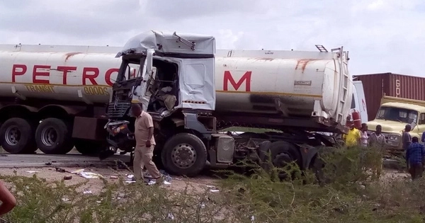 Several killed after passenger bus collides with petrol tanker