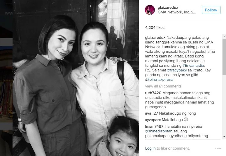 Glaiza de Castro meets the original Pirena of Encantadia