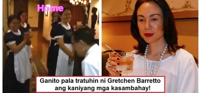 Buhay Doña talaga! Gretchen Barretto's interaction with her house helpers in uniform goes viral