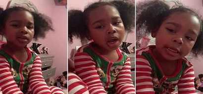 Adorable! Girl, 4, sings her mother a HEARTWARMING song she composed herself (photos, video)
