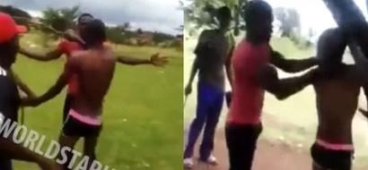 Villagers teach CHEATING husband a brutal lesson (photos, video)