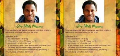 Kenyan family offers their son for marriage in a hilarious poster that you NEED to see
