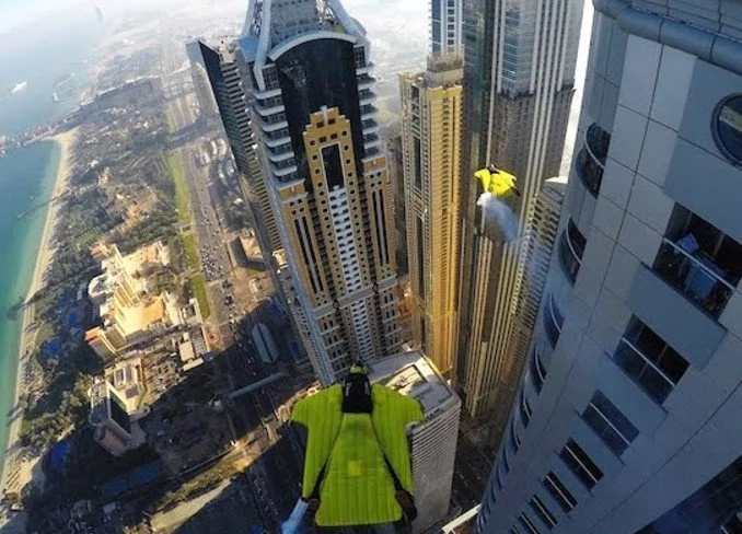 Fearless adrenaline junkies spread their wings in the concrete jungles of Dubai
