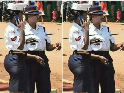 Curvaceous female cop who courted controversy for her derriere is now a proud graduate