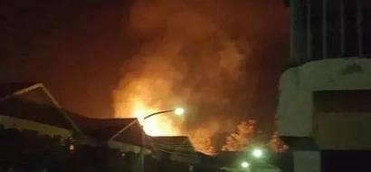 Schoolgirls burnt trying to escape dorm on fire
