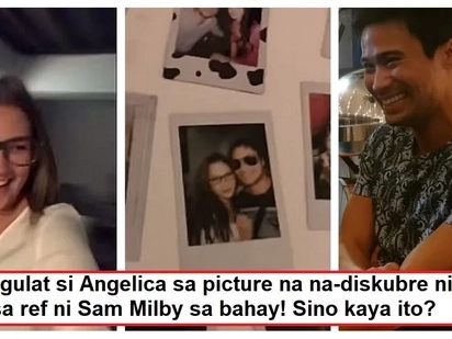Binuking ni Angge! Angelica Panganiban discovered a photo on Sam Milby's house