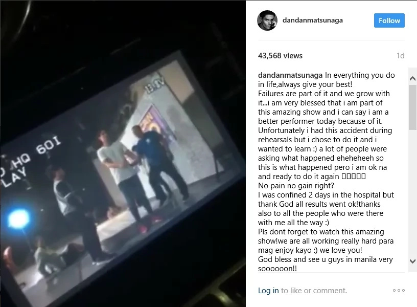 Daniel Matsunaga's accident video went viral.