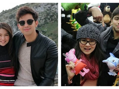 Magpapakilig uli ang DerBie! Barbie Forteza and Derrick Monasterio shoot reunion movie in Italy