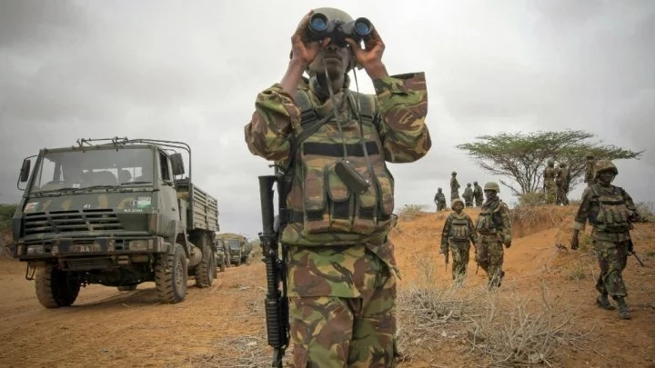 KDF convoy attacked