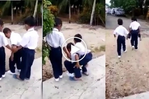 These young boys stun netizens as they show love and compassion to disabled classmate by doing this!
