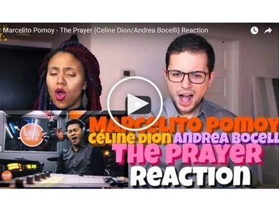 Wow! Their Reaction to Marcelito Pomoy singing 'The Prayer' is priceless!