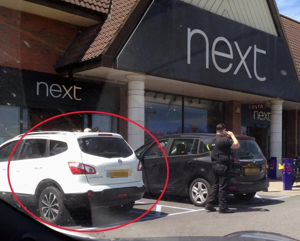 British mother forgets small child in car on hottest day of the year!