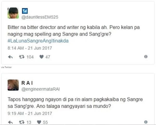 Fans defend La Luna Sangre from Encantadia director and writer