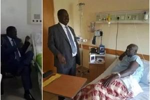 Raila Odinga visits powerful Jubilee senator admitted in hospital