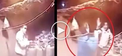 Bugbog sarado! Shocking CCTV footage shows brave resident beating up scared burglar