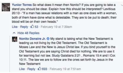 Nonito Donaire Jr. schools bashers regarding gay biblical references