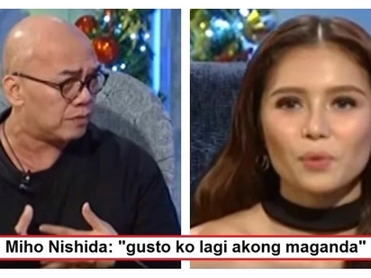 Honest lang siya! Boy Abunda asks Miho Nishida about plastic surgery rumor