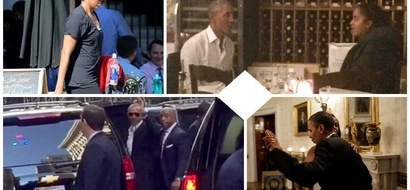 It's party time! OBAMAS spotted in Manhattan spending quality time, and they are 'killing' it