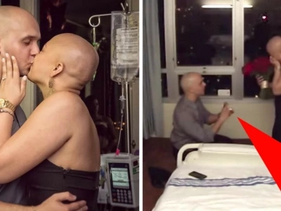 Guy proposes on the last day of his girlfriend's chemo treatment and their story will make your face leak (video)