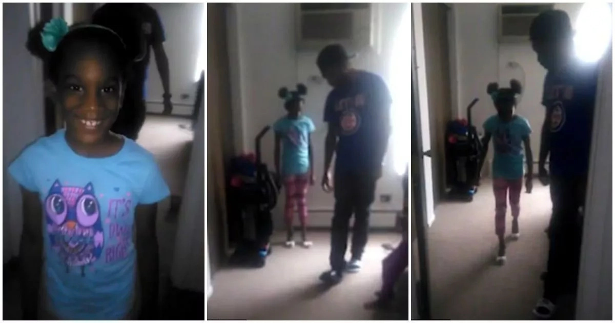 See how father coaches daughter, 6, how to walk in high heels (photos, video)