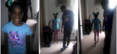 Dad's inner diva! Father coaches daughter, 6, how to walk in high heels (photos, video)