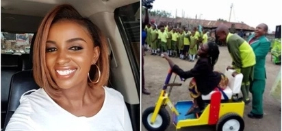Kenya's richest heiress Anerlisa Muigai gifts Nakuru mum seen getting wheeled to work by son