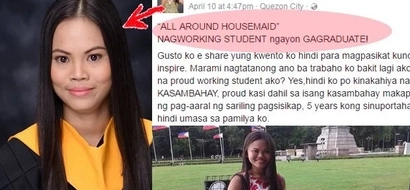 This amazing kasambahay graduates from college through sheer dedication and hard work