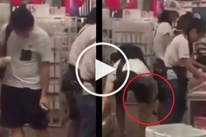 Bastos na lalake! Asian pervert caught on camera taking 'upskirt' video of innocent girl