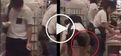 Bastos na lalake! Asian pervert caught on camera taking 'upskirt' video of innocent girl