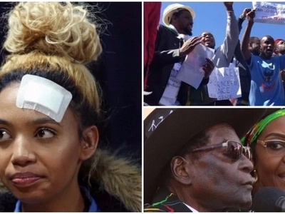 Zimbabwean nationals protest against Grace Mugabe over assault claims