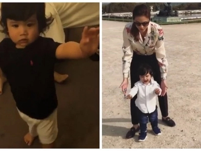 Baby Seve finally learns how to walk! His mommy Toni Gonzaga and tita Alex Gonzaga are so proud of him!