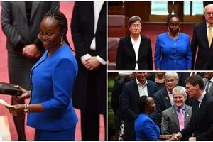 Kenyan-born lawyer makes history as she becomes Australia's FIRST black African Senator (photos)