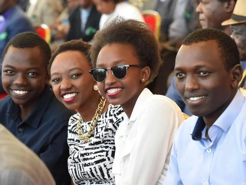 Kenyatta, Ruto and Raila sons chill at a popular club