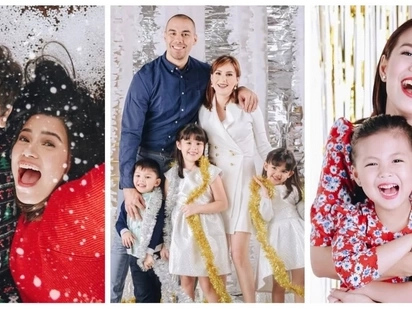 Ang ganda naman! Celebrities and their beautiful Christmas themed photoshoot
