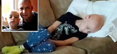 Papá compartió desgarradora foto de hijo luchando contra el cáncer para mostrar la