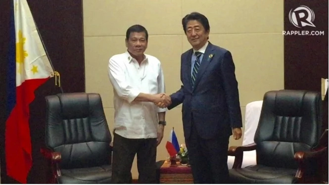 Japanese PM Shinzo Abe says Duterte is famous in Japan