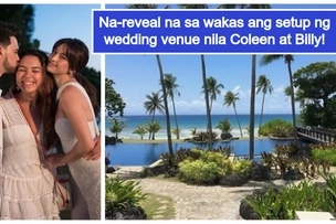 Bonggang kasal ito! 1st look at Billy Crawford & Coleen Garcia's wedding setup has been revealed