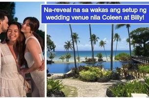 Bonggang kasal ito! 1st look at Billy Crawford & Coleen Garcia's wedding setup has been revealed