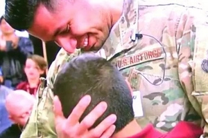 Soldier Comes Home To Surprise Son At Lunch, Then Meets Second Son He Didn't Expect To See