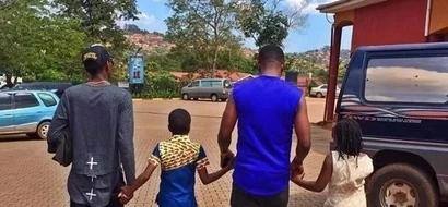 Picha za kuvutia za Mzazi Willy Tuva na wanawe nyumbani mwa msanii Jose Chameleone