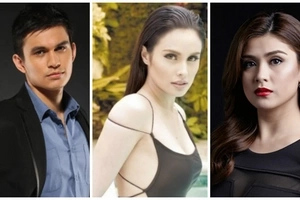 No real life love triangle for Collins, Rodriguez, and Abellana