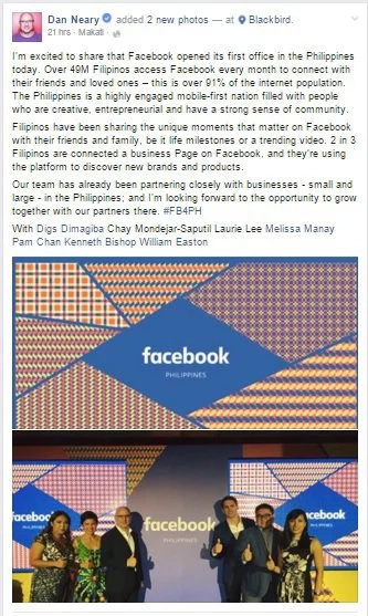 Facebook opens PH office