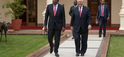 U.S. Secretary of State Rex Tillerson taken ill while on a three day visit in Kenya