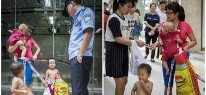 Mujer fue abandonada por su esposo - ahora está dando a sus 3 hijos GRATIS