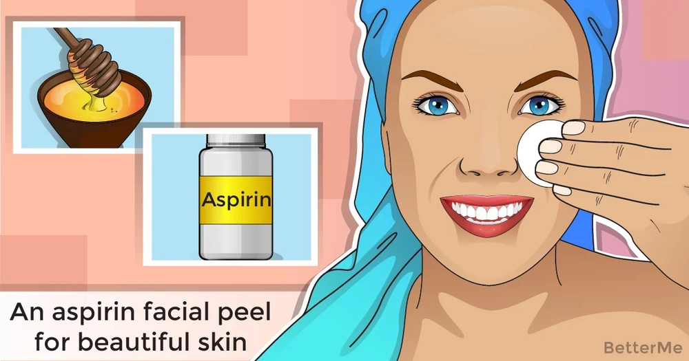 An aspirin facial peel for beautiful skin
